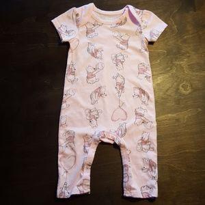 Disney Baby pink, short sleeve onesie.